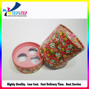 Flower Printing Perfume Cylinder Packaging Box with Paper Insert pictures & photos