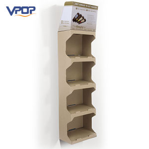 Portable Corrugated Paperboard Folding Shelves Display Racks