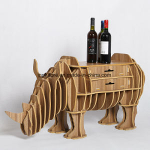 Assemble Toy Decorative Wooden Rhinoceros Furnishing with Drawers pictures & photos