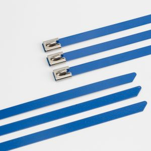 Polyester Coating Stainless Steel Cable Ties pictures & photos