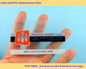 Matt Finish Business Card Made of Transparent PVC (ISO 7810) pictures & photos