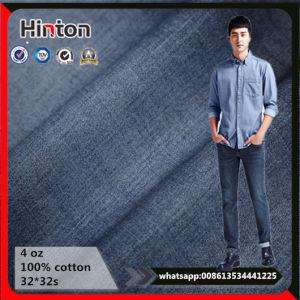 Blue/Indigo Cotton Polyester Plain Woven Denim Fabric pictures & photos