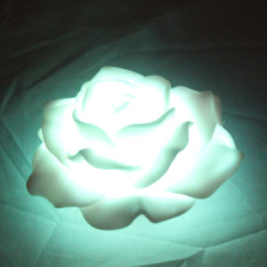 Battery Operated Waterproof Plastic LED Peony Flower with Flickering for Outdoor pictures & photos