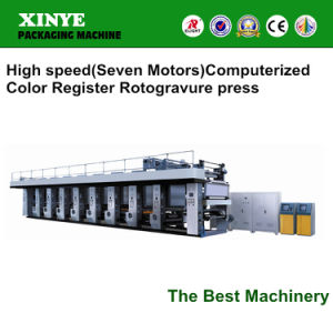 Printing Speed 140 BOPP PVC High Speed New Roto Printing Machine Price pictures & photos