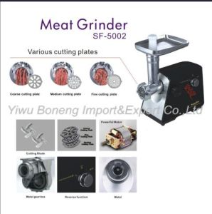 New Efficient Electric Meat Grinder Sf-5002with Reverse Function pictures & photos
