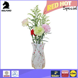 Eco-Friendly Plastic Foldable Vase for Flower pictures & photos