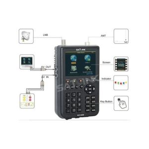 Satlink Ws 6909 Satellite Finder Support FTA and Blindscan Channels DVB-S/T pictures & photos