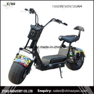 China Supplier 2017 The Most Popular Citycoco 1000W 9.5inch 2 Wheels Harley Electric Scooter pictures & photos