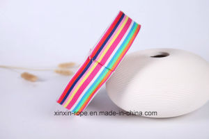 Polyester Weaving Rainbow Jacquard Webbing for Gift Box Handle pictures & photos