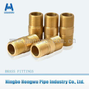 Nipple Brass Fitting for Pipe End Connection