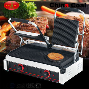 Tcg-811 Stainless Steel Countertop Double Contact Grill pictures & photos
