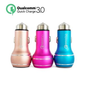 Car Safety Hammer Cigarette Charger QC3.0 Dual USB Car Charger pictures & photos
