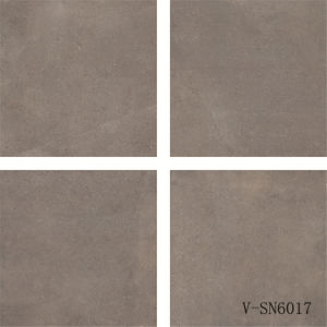 Indoor Porcelain Dark Grey Non-Slip Office Natural Cement Flooring Tile (600X600mm) pictures & photos