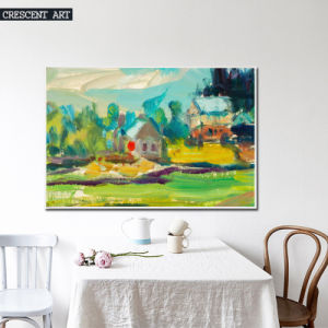 Watercolor Countryside Abstract Canvas Print pictures & photos