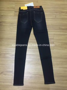Ladies Stretchy Skinny Jeans (HYQ117-01GDT) pictures & photos