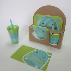 Bamboo Fiber Kids Set with Cartoon Colorful Design pictures & photos