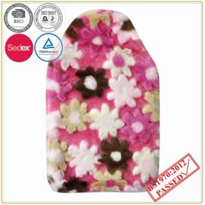 Flower Design PV Plush Cover with Hot Water Bottle pictures & photos