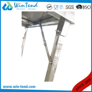 Stainless Steel Square Tube Mobile Work Table with Height Adjustable Leg for Transport pictures & photos