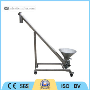 Stainless Steel Small Spiral Conveyor with Round Storage Hopper pictures & photos