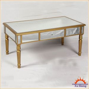 Home Furniture Vintage Champagne Mirrored Console Table with Drawer and Mirror Accents pictures & photos