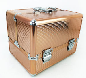 Golden Makeup Case with Aluminum / ABS Good Quality and Good Price From Manufacturer pictures & photos