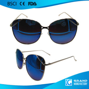 Fashion Wholesale Vintage High Nose Bridge Metal Sunglasses pictures & photos