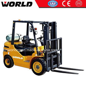 Diesel Engine Power Pullet Forklift Truck with Cabin pictures & photos