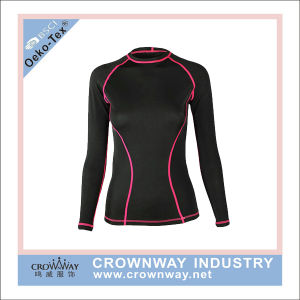 Women Warm Base Layer Suit with Flat Lock Stitching pictures & photos