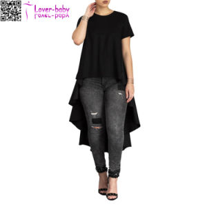 Fashionable and Best Selling Sleeves O Neck Solid Ladies T-Shirt L572-2 pictures & photos