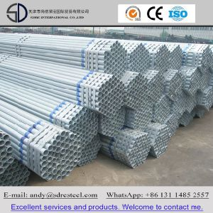 DIN S235jr Hot DIP Galvanized Round Steel Pipe (Tube) pictures & photos