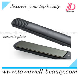 Professional Jet Black Hair Flat Iron with Mch Heater and LCD Display pictures & photos