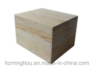 Customize Wood Single Bottle Red Wine Gift Packing Box pictures & photos