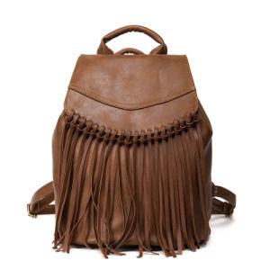 PU Tassel Custom Drawstring Girls Backpacks