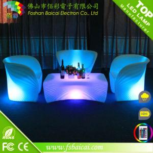 Luxury Luminous Rotational Molding LED Bar Furniture Set pictures & photos