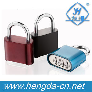Yh9927 4 Digits Number Bottom Password Code Lock Combination Resettable Padlock pictures & photos