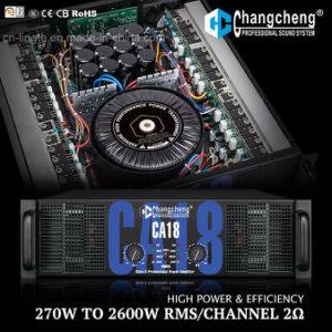 High Power Ca18 Tier 2 Professional Power Amplifier Class H Series, 2 Ohm Stable pictures & photos