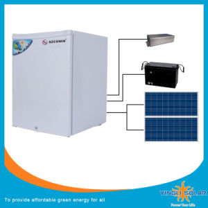 DC Power Solar Deep Refrigertator Freezer with Solar Panel pictures & photos