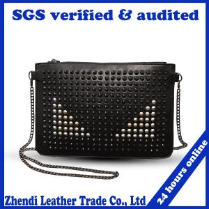 Horizontal Square&PU The Single Shoulder Woman Rivet Evening Bags pictures & photos