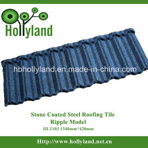 Corrugated Steel Stone Coated Metal Roofing Tile (Ripple Type) pictures & photos