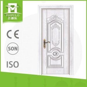 Simple Design European White Interior Solid Wooden Doors pictures & photos