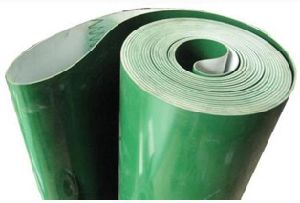 Soft PVC Belt Converyor with Green-White pictures & photos