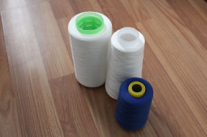 20s 30s 40s Z Twist Spun Polyester Yarn Raw White Short Fiber Yarn Ring Spun pictures & photos