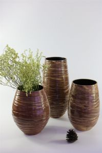 High Quality Fashion Brown Ceramic Flower Pot pictures & photos