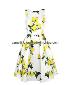 Printed Fruit Women`S Dress