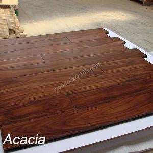 Small Leaf Acacia Hardwood Flooring Flat Solid Wood Floor Acacia Wood Flooring