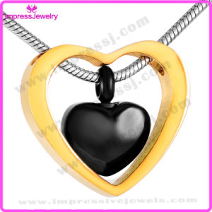 Ijd8078 Wholesale Cheap Double Heart Stainless Steel Cremation Pendant Necklace Ashes Keepsake Holder Memorial Locket pictures & photos