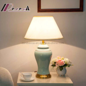 Chinese Style Ceramics Body Light off-White Table Lamp for Living Room pictures & photos