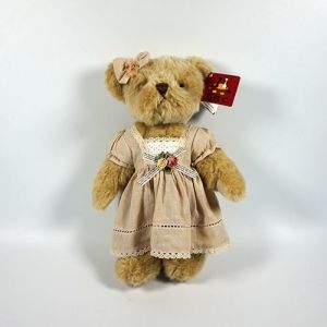 Plush Brown Fur Jointed Bear with Clothing pictures & photos