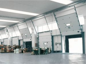 Inside House Protection Factory Overhead Sectional Garage Sliding Door (Hz-SD018) pictures & photos