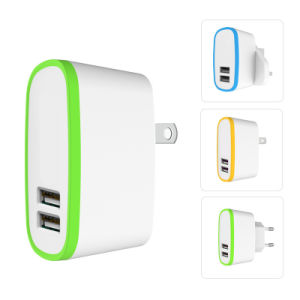 EU UK Us Plug Dual USB 5 V 2.1A Travel Adapter USB Charger for iPhone Samsung pictures & photos